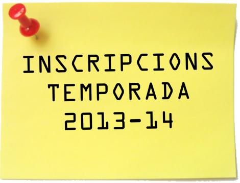 INSCRIPCIONS 2013-14